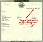Real Certificate of Live Birth In Hawaii